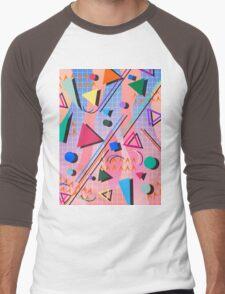 80s pop retro pattern 2 Men's Baseball ¾ T-Shirt