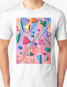 80s pop retro pattern 2 Unisex T-Shirt
