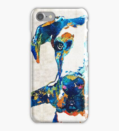 Great Dane Art - Stick With Me - By Sharon Cummings iPhone Case/Skin