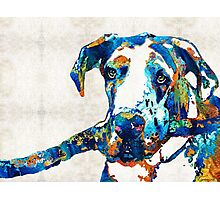 Great Dane Art - Stick With Me - By Sharon Cummings Photographic Print