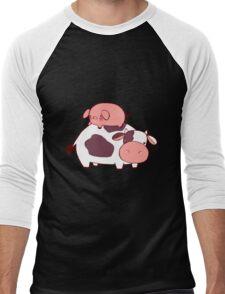 Cow and Pig Men's Baseball ¾ T-Shirt