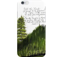 Scripture Isaiah 30:18 calligraphy art  iPhone Case/Skin