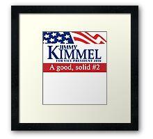 Jimmy Kimmel A Good Solid #2 Framed Print