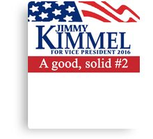 Jimmy Kimmel A Good Solid #2 Canvas Print
