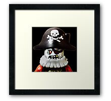 Lego Zombie Pirate minifigure Framed Print