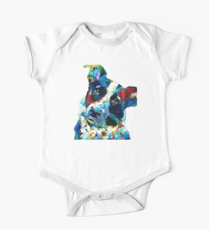 Colorful Dog Art - Irresistible - By Sharon Cummings One Piece - Short Sleeve