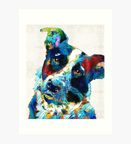 Colorful Dog Art - Irresistible - By Sharon Cummings Art Print