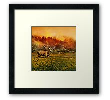 Forest fire Framed Print
