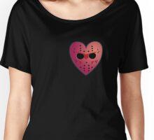 Hockey Mask Heart Women's Relaxed Fit T-Shirt