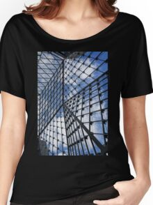 Geometric Sky - Fabulous Modern Architecture in London, UK - Vertical Women's Relaxed Fit T-Shirt