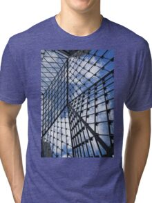 Geometric Sky - Fabulous Modern Architecture in London, UK - Vertical Tri-blend T-Shirt
