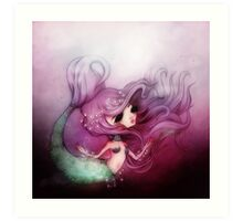 Mermaid Princess Art Print