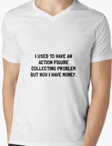 Money Action Figure Problem Mens V-Neck T-Shirt