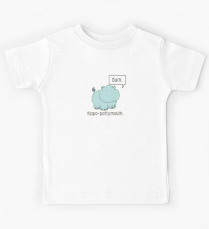 Hippo-Pottymouth Kids Clothes