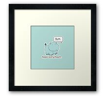 Hippo-Pottymouth Framed Print