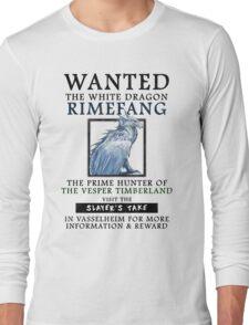 WANTED: The White Dragon, Rimefang - Critical Role Fan Design Long Sleeve T-Shirt