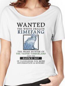 WANTED: The White Dragon, Rimefang - Critical Role Fan Design Women's Relaxed Fit T-Shirt