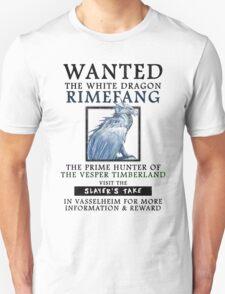 WANTED: The White Dragon, Rimefang - Critical Role Fan Design Unisex T-Shirt