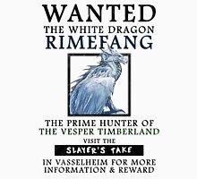 WANTED: The White Dragon, Rimefang - Critical Role Fan Design T-Shirt