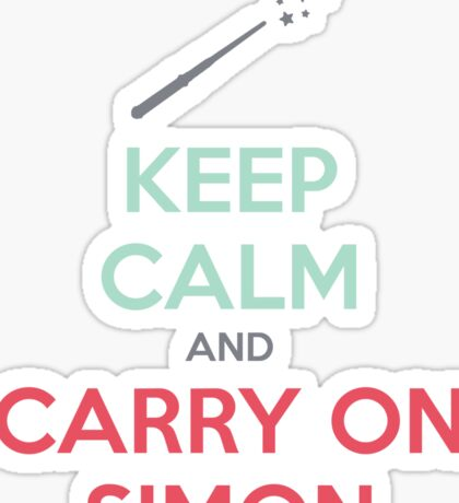 Keep Calm and Carry On Simon (Multi-Color Text) Sticker