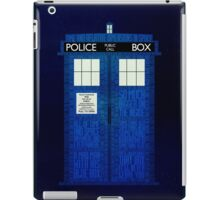 Time and Relative Dimensions in Space iPad Case/Skin