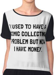 Money Comic Collecting Problem Chiffon Top