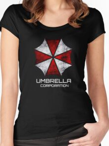 Umbrella Corp. Vintage Women's Fitted Scoop T-Shirt
