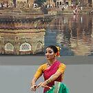 HOLI Dancer, Indian Color Festival  by Heather Friedman