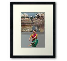HOLI Dancer, Indian Color Festival  Framed Print