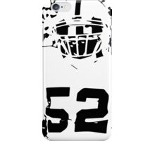 Khalil Mack black/white iPhone Case/Skin