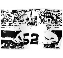 Khalil Mack black/white Poster