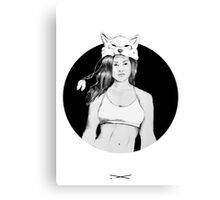 Girls of the pack Canvas Print