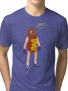Hot dog man Tri-blend T-Shirt