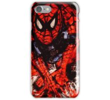 Spider-Man mash up by Fanny Gogh iPhone Case/Skin