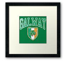 Galway, Ireland with Shamrock Framed Print