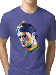 Roger Federer | PolygonART Tri-blend T-Shirt