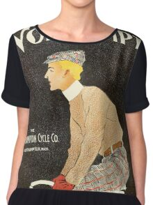American Golden Age bicycle advertising by Penfield Chiffon Top