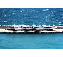 Sea boats landed Photographic Print
