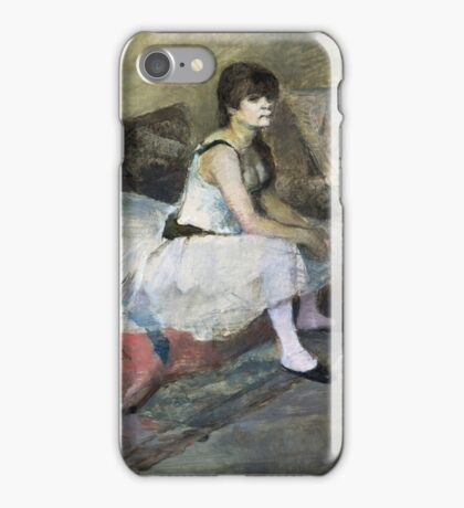 Edgar Degas - Dancer At Rest iPhone Case/Skin