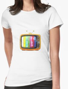 Television Pencil Womens Fitted T-Shirt