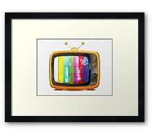 Television Pencil Framed Print