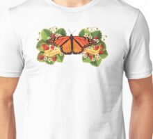 Monarch Butterfly with Strawberries Unisex T-Shirt