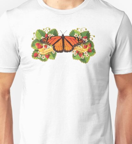 Monarch Butterfly with Strawberries T-Shirt