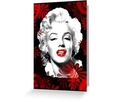 Marilyn's Blooming Beauty Greeting Card