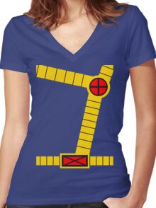 Cyclops Vest Women's Fitted V-Neck T-Shirt