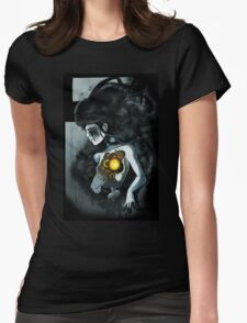 Modern Ghosts Womens Fitted T-Shirt