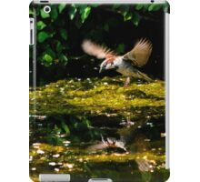 house sparrow flying iPad Case/Skin