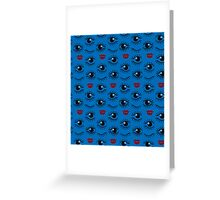 Eyes and lips  silhouette seamless pattern. Stylish trend design  Greeting Card