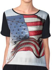 Sunlit America Chiffon Top