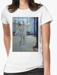 Edgar Degas - Dancer In Front Of A Window Womens Fitted T-Shirt